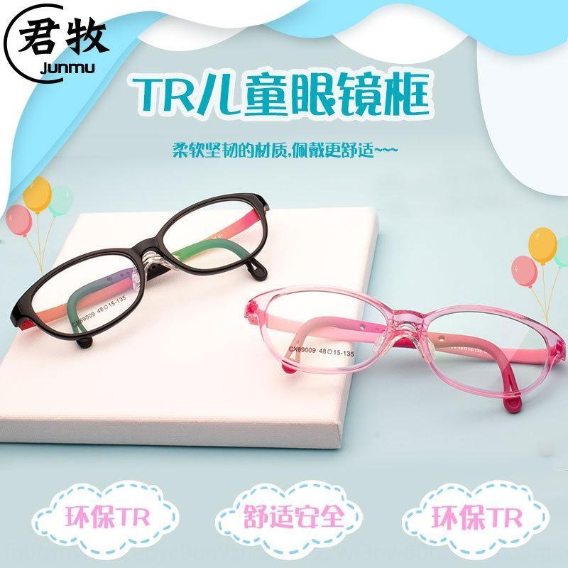 Çocuk rahat ultra hafif TR90 çerçeve miyopi ambliyopisi çerçeve yumuşak silikon burun Silikon Gözlük destek gözlük bacakları çocuk A6J