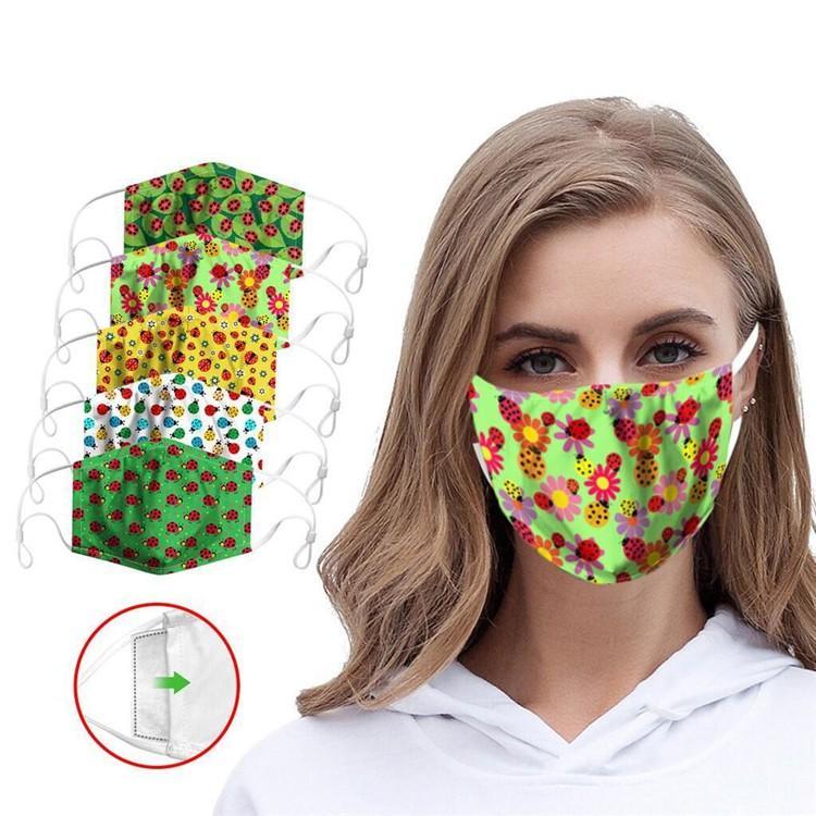 32 máscaras estilo del diseñador de moda Impreso Boca lavable a prueba de polvo paño de algodón transpirable cara DWC09