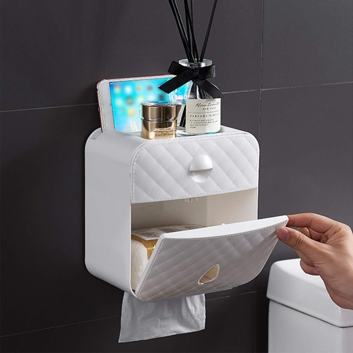 مرحاض للماء حامل ورقة التصميمات ورقة المناشف حامل حامل مطبخ حمام ورقة حالة تخزين مربع المرحاض لفة حامل T200425