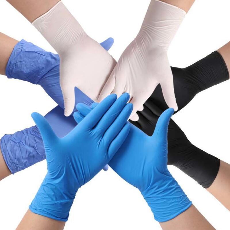 Cómoda examen desechables de nitrilo sin polvo de PVC Guantes de goma Casa de gran tamaño DHF1018 látex de seguridad para prevenir la infección bacteriana