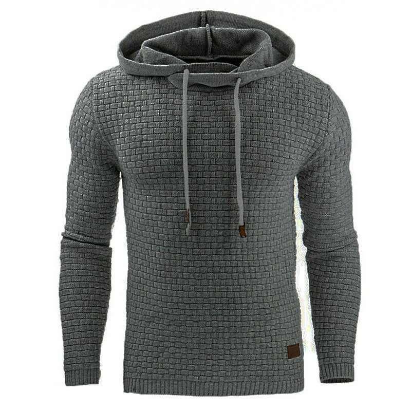 2020 Dış Ticaret Sonbahar ve Kış Yeni Avrupa ve Amerikan Mens Jakarlı Kazak Uzun kollu Hoodie Sıcak Renk Kapşonlu Sweatshirt Ceket