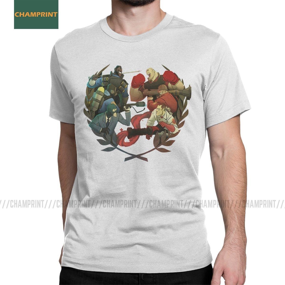 Team Fortress 2 Competitive T-shirts pour hommes TF2 Ingénieur jeu soldat Humour 100% coton T-shirt à manches courtes T-shirts graphiques