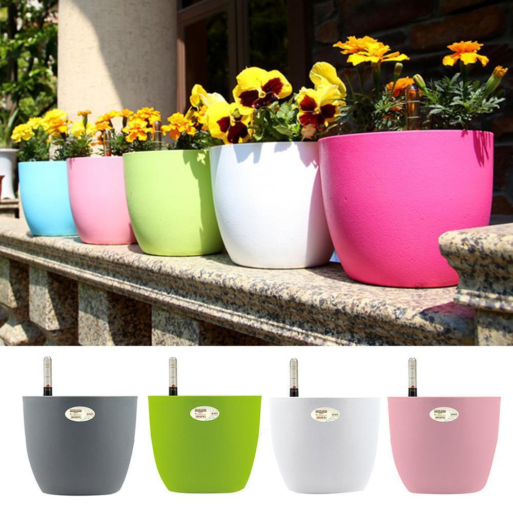 Auto Irrigate Flower Vase Automatic Watering Planter Lazy Planting Automatic Watering Flower Pot Absorbing Irrigation Flower Pot Y200723