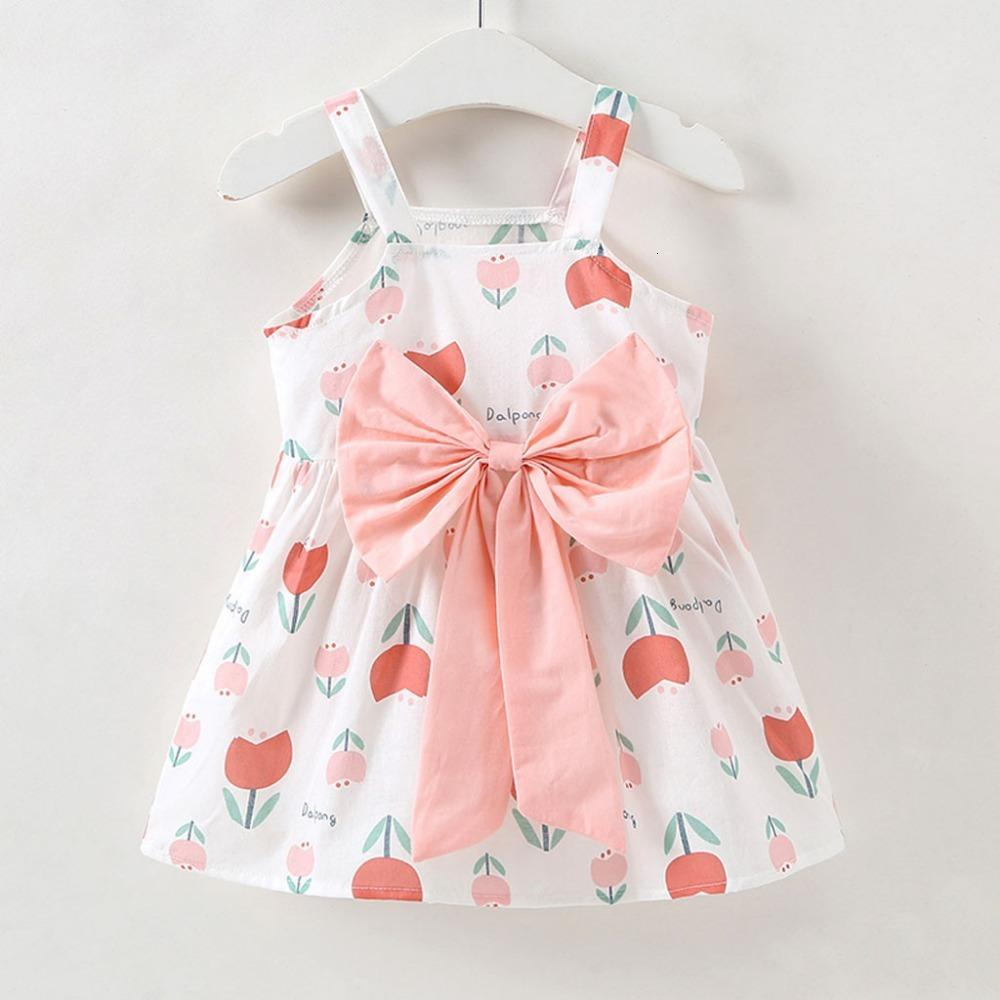 Clearance New summer Toddler Baby Girls Sleeveless Flowers Bow Tulle Floral Party Princess Dresses 0116