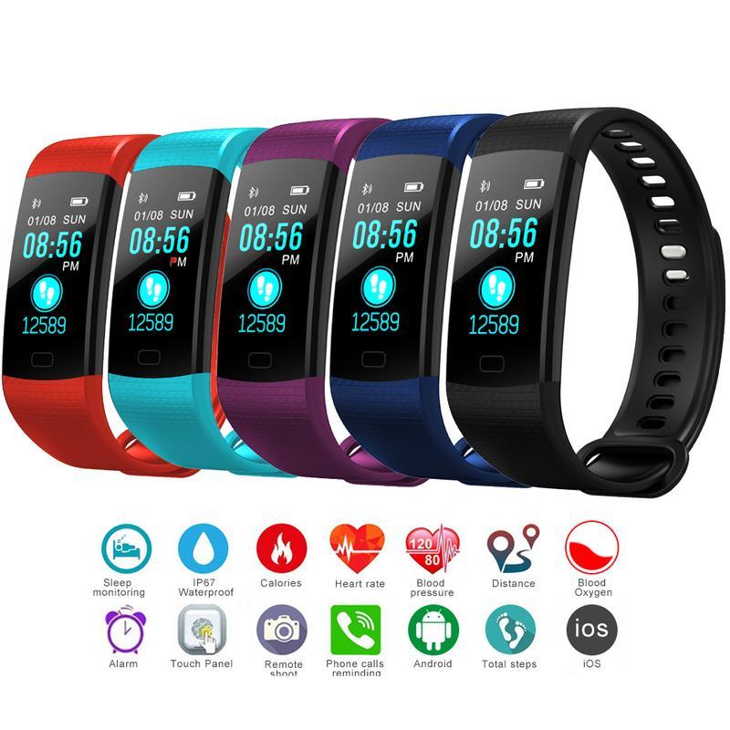 Y5 Wristband Heart Rate Monitor di pressione sanguigna Fitness Tracker Bracciale impermeabile intelligente orologio Pedometro
