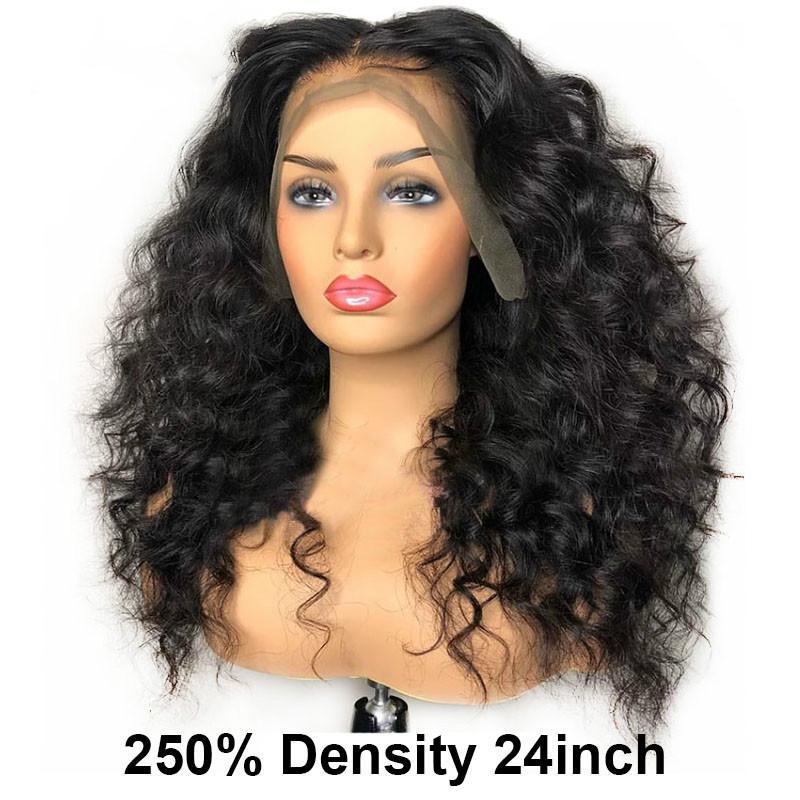 Gevşek Dalga Peruk 360 Dantel Frontal Peruk Brezilyalı 250 Yoğunluk 13x6 Dantel Ön İnsan Saç Peruk 30 inç Sahte Kafa Saç Saç