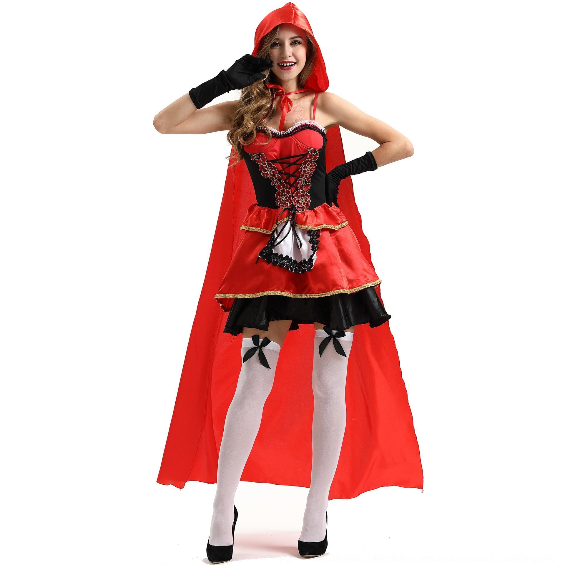 ELCAD Cappello XoBai Plus gioco uniforme Cosplay abbigliamento donna abbigliamento dimensioni Red Cloak Piccola Halloween sexy mantello costo regina Cappuccetto Rosso