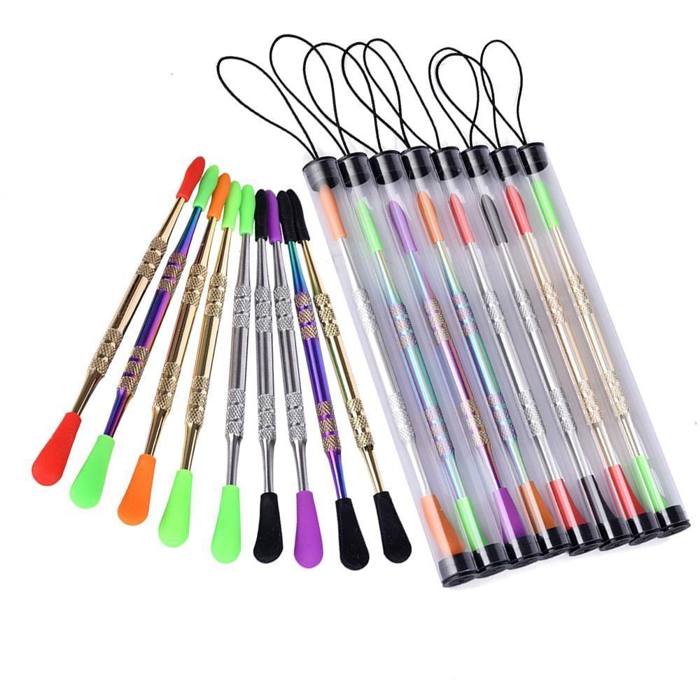 최소 도매 2PC 컨테이너 증기 펜 키트 티타늄 도구 살짝 적셔 도구 드라이 허브 기화기 다채로운 도구 C Dabber 왁스 분무기