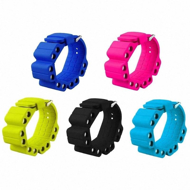 2pcs silicone Bracelet Poids réglable Sangle de poignet de soutien Wrap Brassards Fitness Pour Wristband exercice Yoga Marche de jogging Gym 3EB8 #