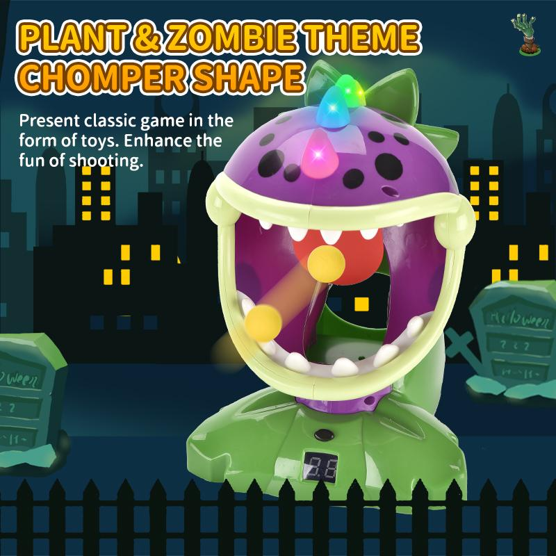 Forest Plant War Shooting Games Sound and Light Effects Shooting Toy With Liquid Crystal Scorer Children's Toys Gift Look