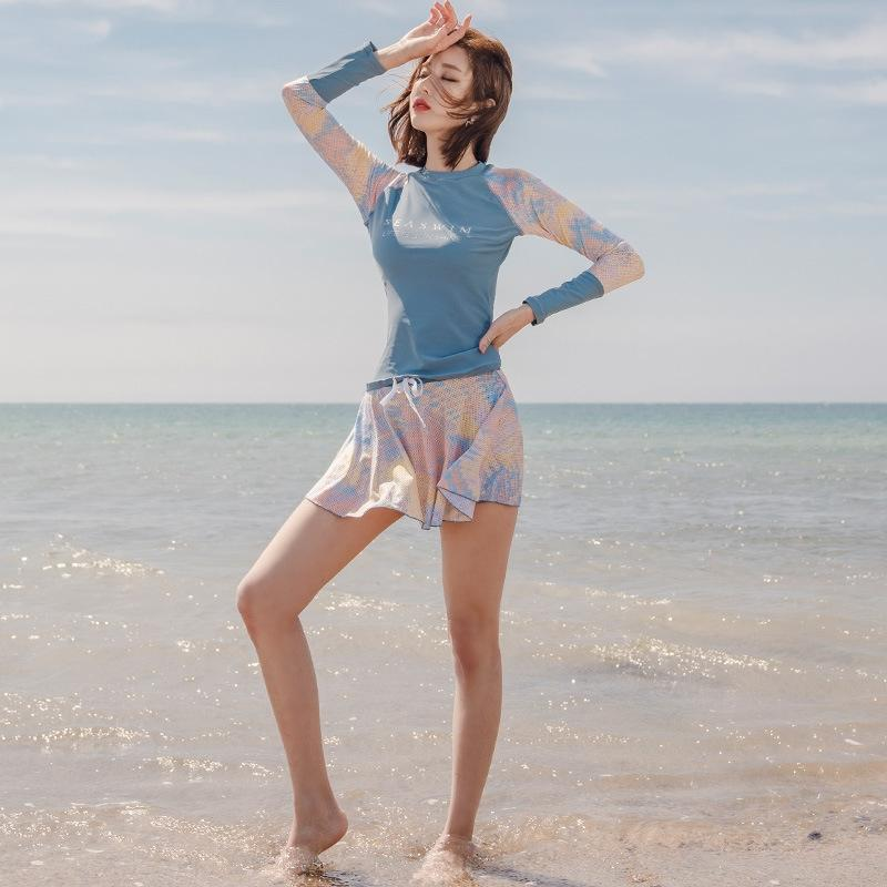 HLuPx cBi11 maillot de bain sexy petite minceur des femmes coréennes grand soutien en acier poitrine conservateur poitrine dentelle dentelle recueilli maillot de bain N source d'eau chaude