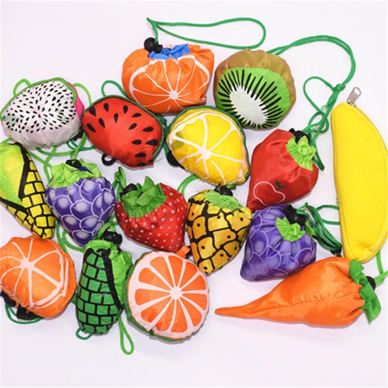 Criativa poliéster portátil saco de compras Folding padrão Fruit saco de armazenamento de grande capacidade T9I00612 compras bolsa