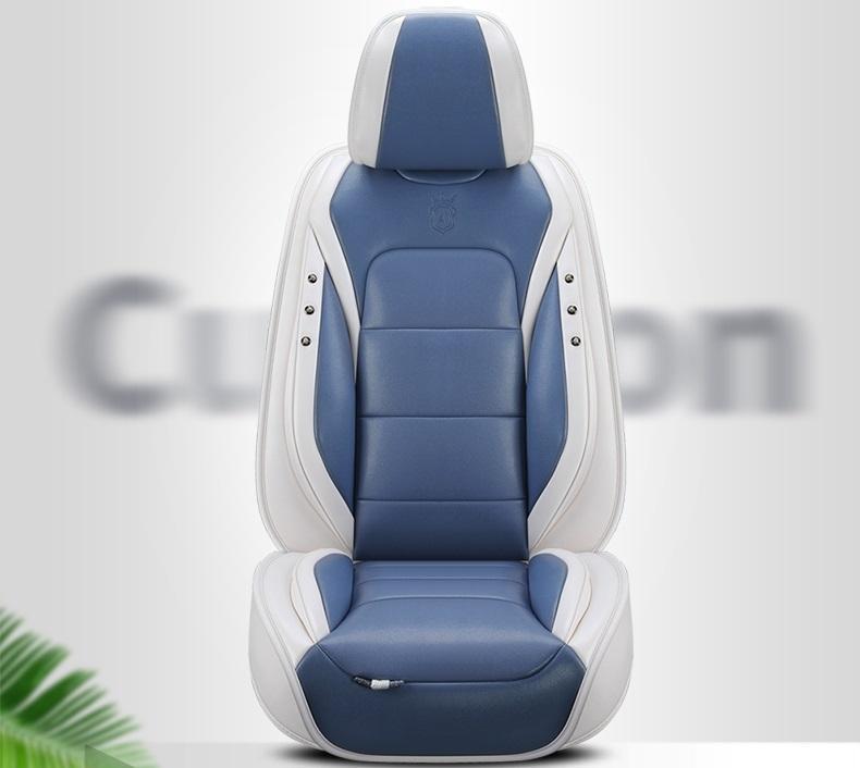Evrensel Fit Araç Aksesuarları İç Oto Koltuk SUV 5 adet Koltuk Cushion03 İçin Sedan PU Deri Adjuatable Koltuklar Kapaklar için Tam Set Kapaklar