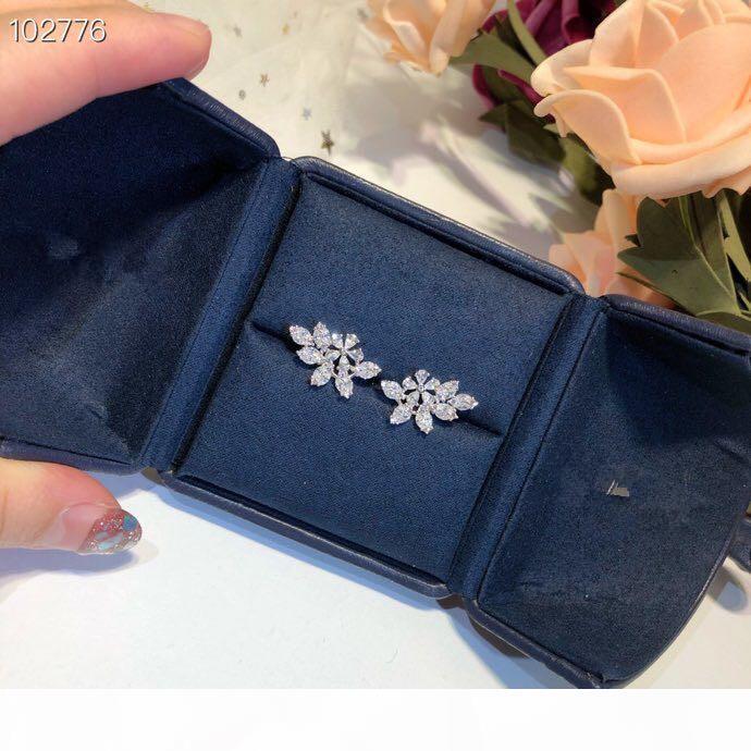 Luxe classique Designer à diamants S925 argent sterling Ange Balançoire Zircon Charm Boucles d'oreilles pour les femmes Bijoux