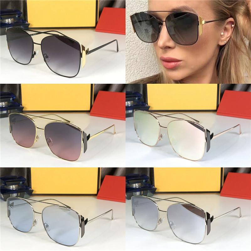 Yeni moda tasarımı koruyucu gözlük UV400 en çok satan 0380GS kare metal ultra hafif tam kare en kaliteli popüler tarzı güneş gözlüğü