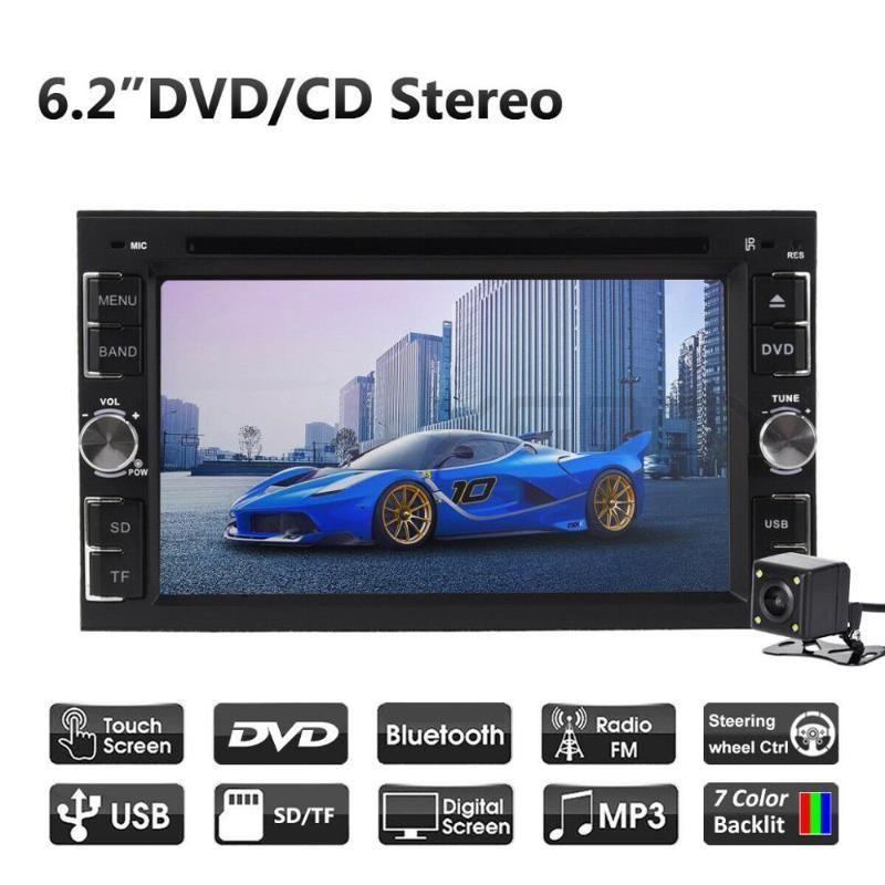 "Auto-Stereo-Radio DVD CD MP5-Spieler Autoradio 6.2"" Touch Screen BT 2 DIN Autoradio Audio Stereo + hintere Kamera-Multimedia-DVD-Player"
