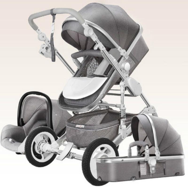 Высокая Landscape Детская коляска 3 в 1 Hot Mom прогулочная коляска класса люкс Сиденье и Carrito Путешествия Pram перевозки Корзина малолитражного автомобиля