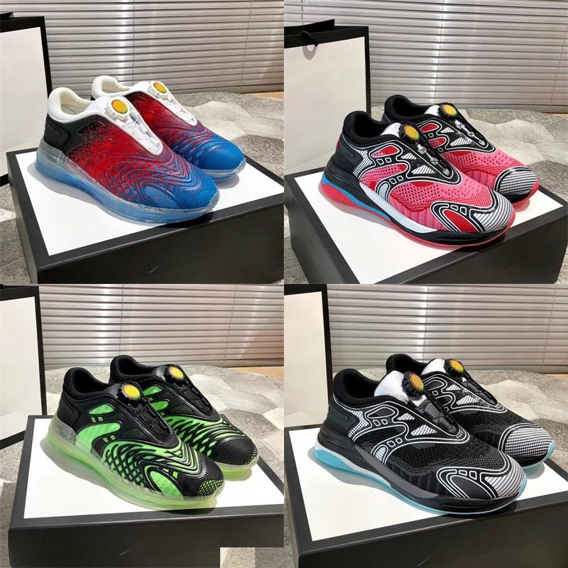 أحدث الرجال ultrapace ص حذاء رياضة أعلى جودة أسود متماسكة النسيج عاكس تقليم النساء الدانتيل متابعة المدربين خفيفة الوزن عداء الأحذية مع مربع