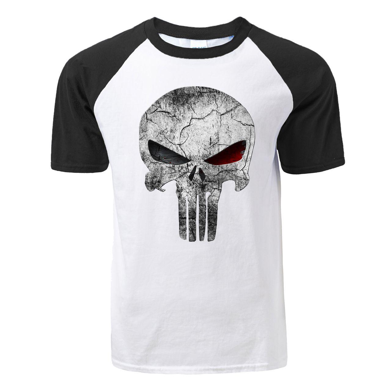 Marca Skull T Shirt manica corta moda Punk Abbigliamento gotico maglietta divertente delle magliette degli uomini di Hip Hop Top punk di alta qualità