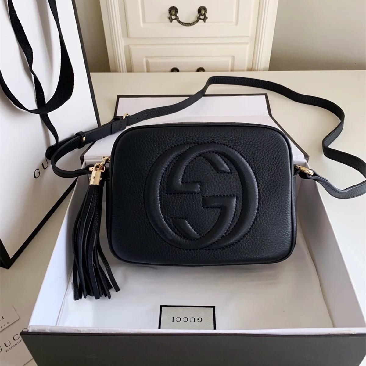 Designer bolsas SOHO DISCO Bag Genuine borla couro zipper Bolsas de ombro mulheres saco Crossbody Designer bolsa 308364 A2
