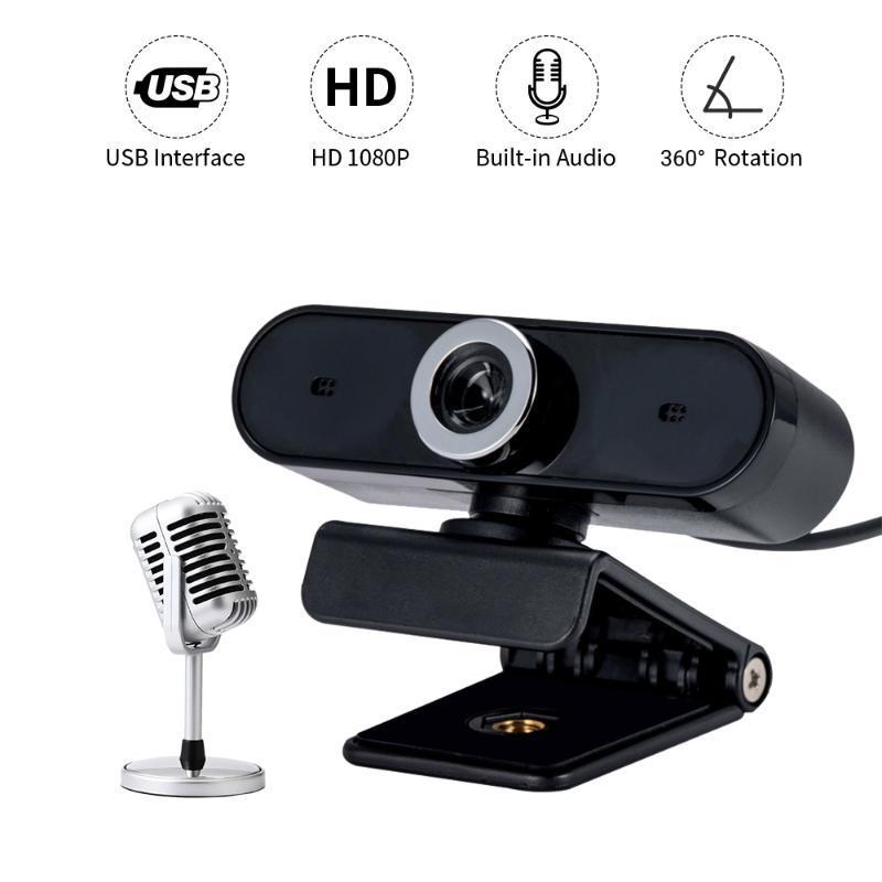 360 градусов вращения камеры USB Встроенный микрофон высокого класса Видеозвонок Компьютер веб-камера ПК видео конференции
