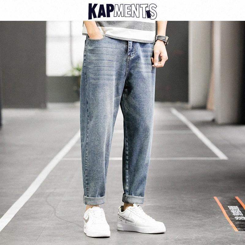 KAPMENTS Erkekler Vintage Japon Streetwear Harem Kot Pantolon 2020 Erkek Harajuku Düz Kot Pantolon Erkek Kore Kpop Baggy Jeans u3Ab #