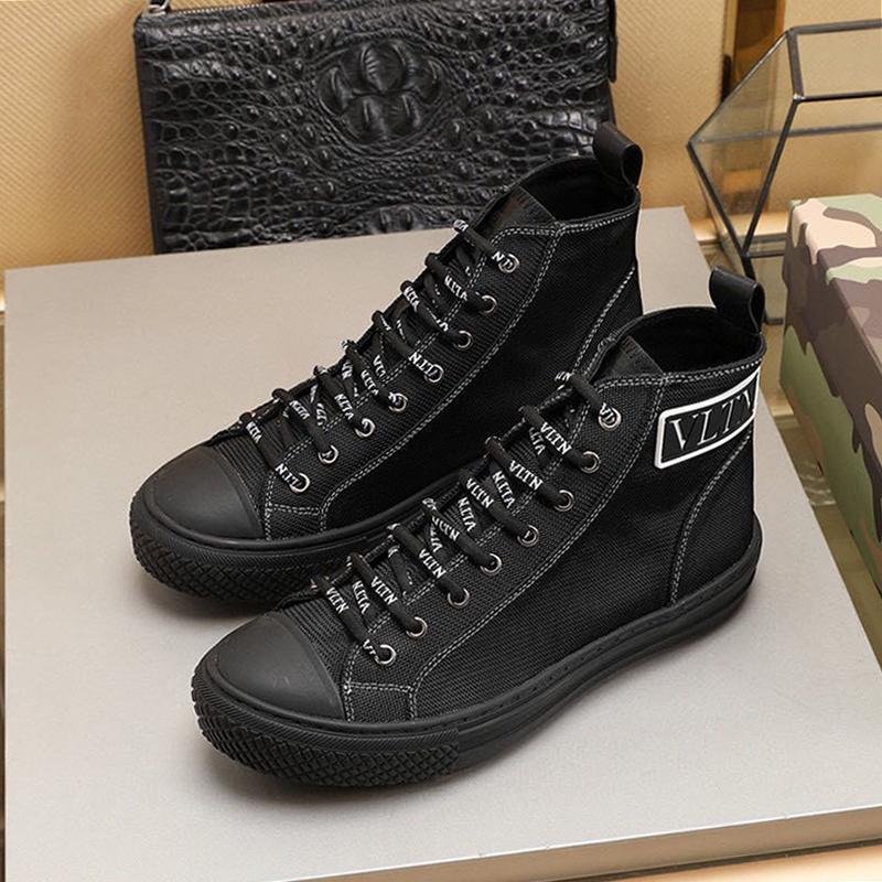 Корабль падения Мужская обувь высокого Top Ткань тапки Роскошная Открытый Прогулки Повседневная обувь Kuitixm дышащий Мужчины Спортивная обувь Shaspet