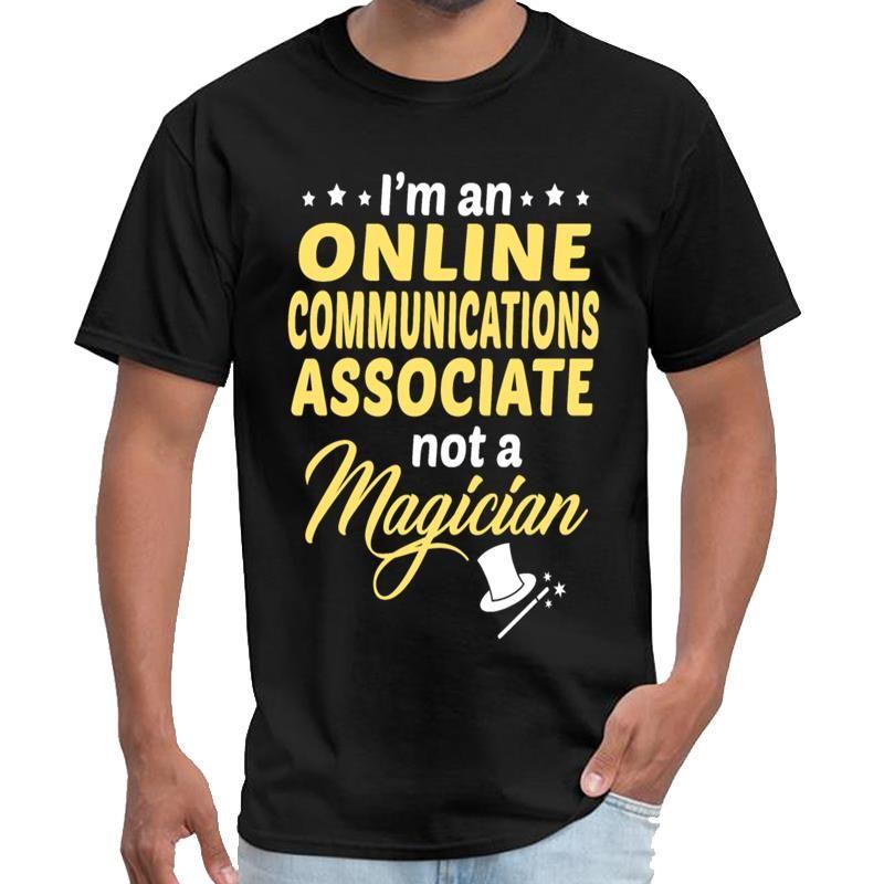 Divertente online Communications Associate maglietta u2 maglietta uomo nero parti superiori del T s-5XL