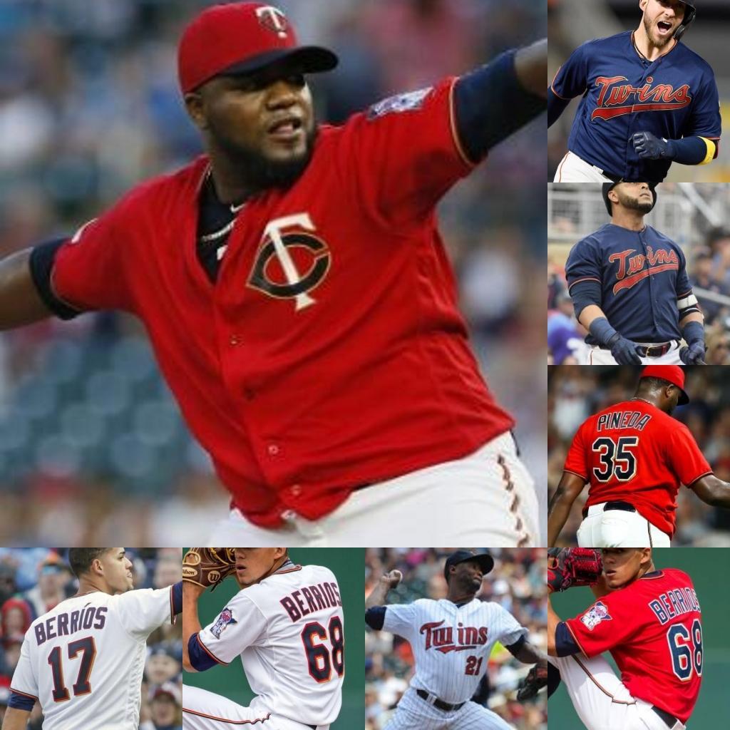 College Baseball trägt Max Kepler Josh Donaldson Wilbers Astudillo Luis Arraez Eddie Rosario Nelson Cruz Byron Buxton Jose BERRIOS Trevor