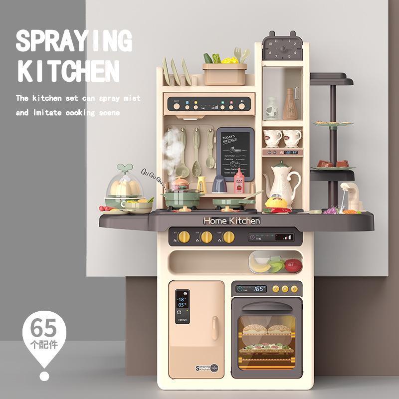 Los 93CM del tamaño grande simulado de agua disperso juguetes de la cocina Cocinar Tabla juegos de simulación y de Vestir Juguete para niña