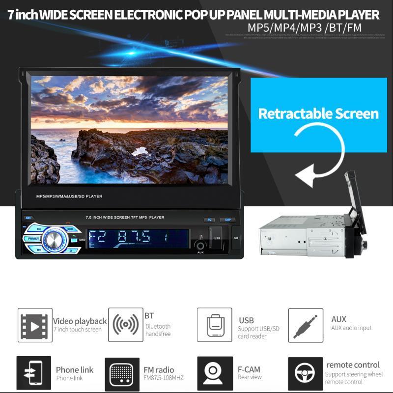 "7"" 2 DIN Autoradio-Spieler Autoradio 9601G Audio Stereo MP5 Auto-Spieler Touch Screen Bluetooth FM MP3-MP4 MP5 mit Rearview-Kamera"