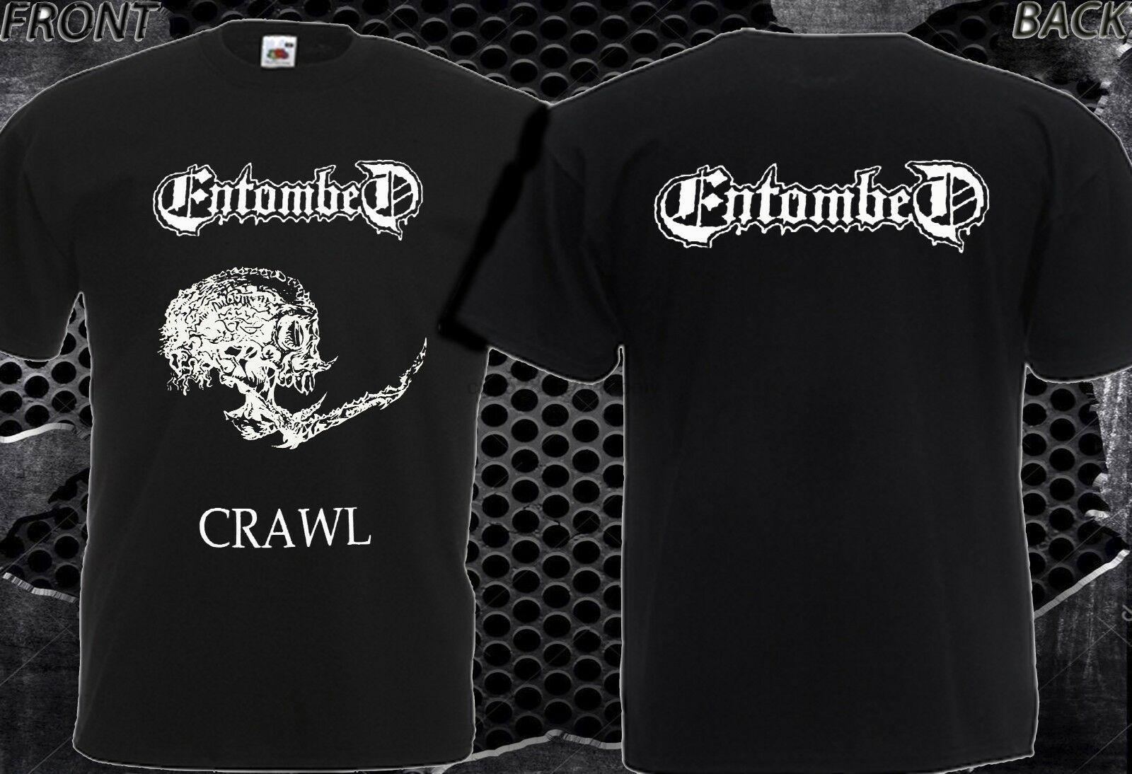 Nouveau T-shirt Entombed Crawl DTG Printed Tee S 7XL