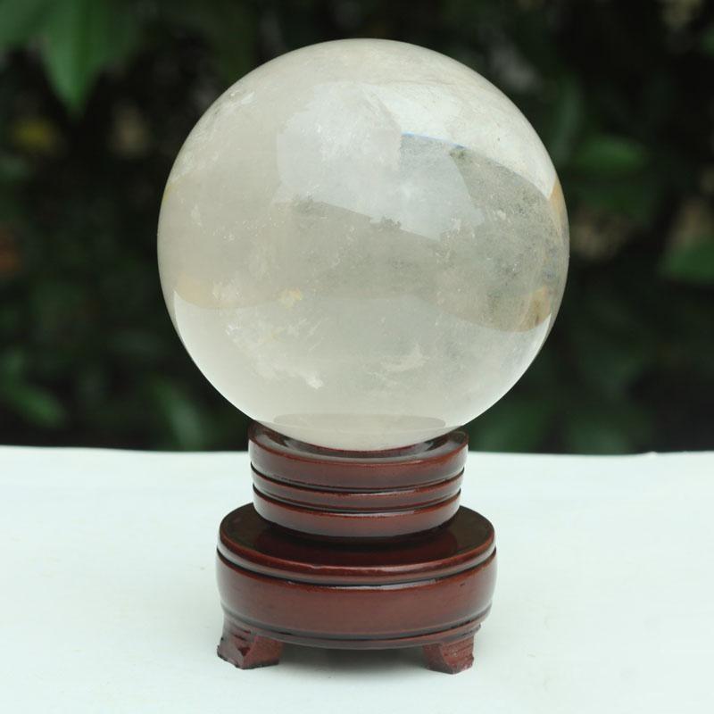 HJT stand Reiki Tatuaggi all'ingrosso guarigione naturale 520g pietra preziosa di trasporto della sfera di cristallo sfera sfere di cristallo + Clear wphome YMY