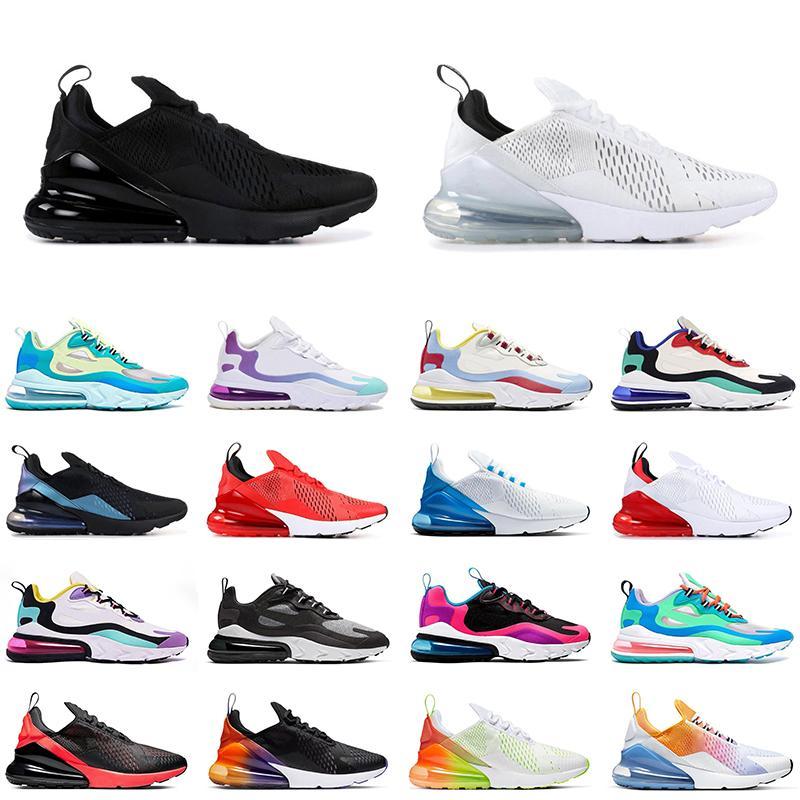 270 الأحذية الثلاثي الأسود الأساسية أبيض رجل إمرأة تشغيل 270 تتفاعل ENG ترافيس سكوتس المدرب الرياضية حذاء 36-45