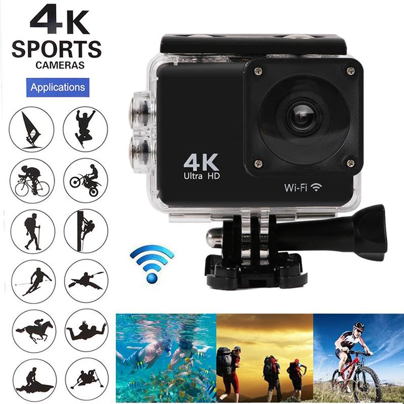 4K Touch Action Camera 16MP Vision 3 Underwater Waterproof Camera 170 ° Wide Angle WiFi Sports Camera