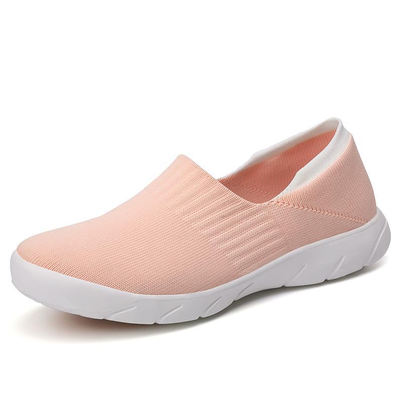 Rahat 2020 Sonbahar Sneakers Kadınlar Flats Ayakkabı Casual Çorap Ayakkabı Kadın Kayma-on balerin zapatillas mujer