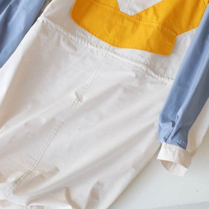 Kontrastfarbe Windjacke Windjacke 2020 neue Herbst Kleidung koreanische Pendler Kleidung der Frauen Taille Jacke 072909