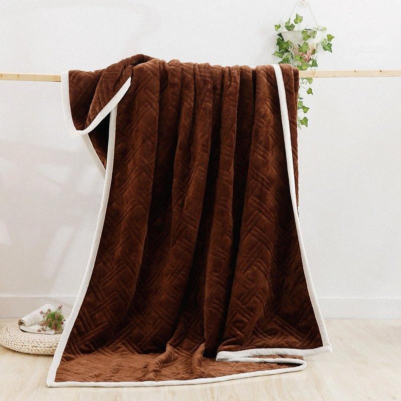 Hot Sale Flanell Decke Grau weiße Decke Manta Fleece-Decken-Sofa / Bett / Flugzeug Reise Plaids 150x200cm DGPW #