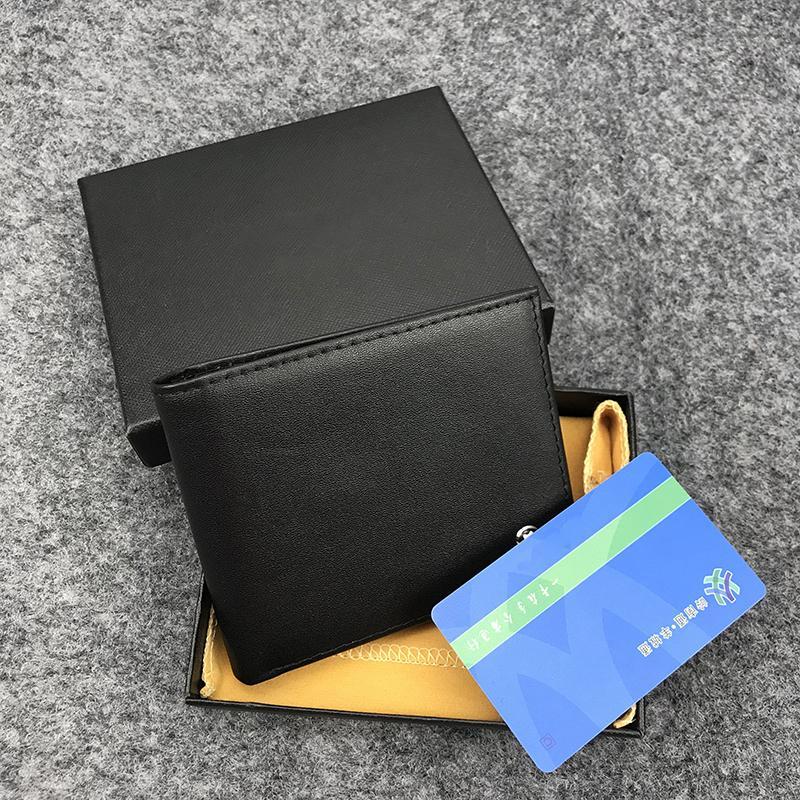Titular de la calidad de cuero para hombres con bolsillo PORTAFOGLIO CRÉDITO CRÉDITO FAMOSO JAJAC HIJO TARJETA DE TARJETA TOP BOX BLACK Designer Wallet WPUGC