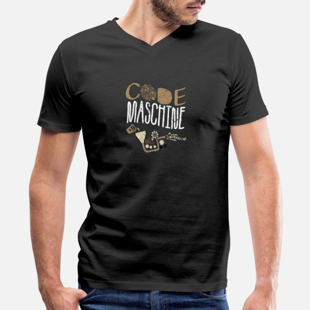 Programación Código de Máquina Nerd Gift ordenador hombres de la camiseta 100% algodón crean S-3XL de la camisa de Kawaii famoso básico Spring Leisure