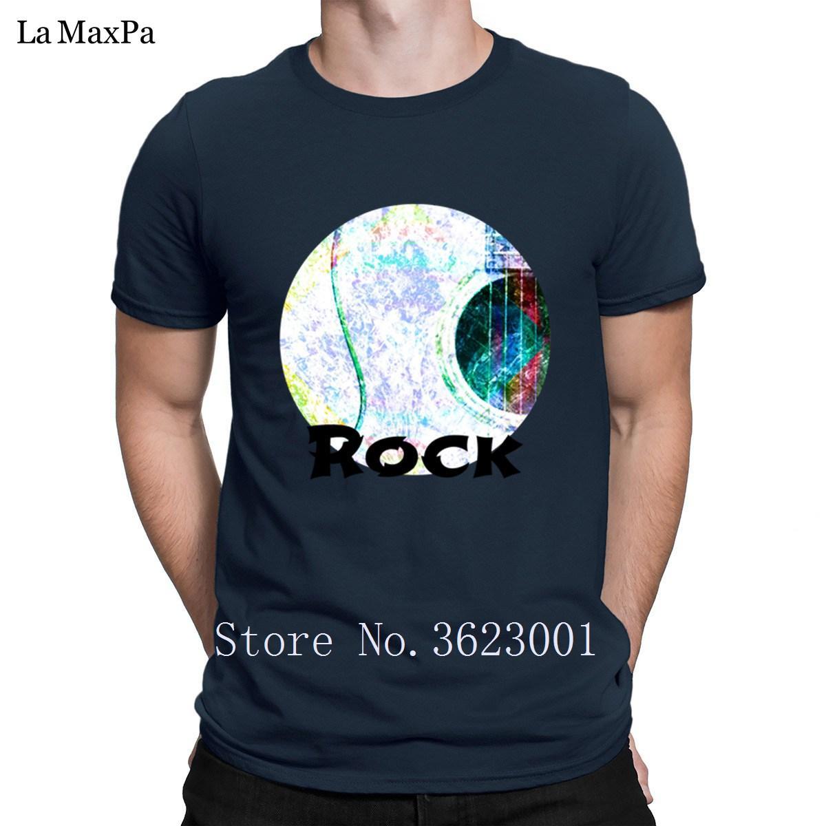 Diseño delgado camiseta para hombre de la lechada de cal acústica Camiseta de la roca de primavera camiseta de los hombres Tamaño natural para los hombres Plus 3XL fitness