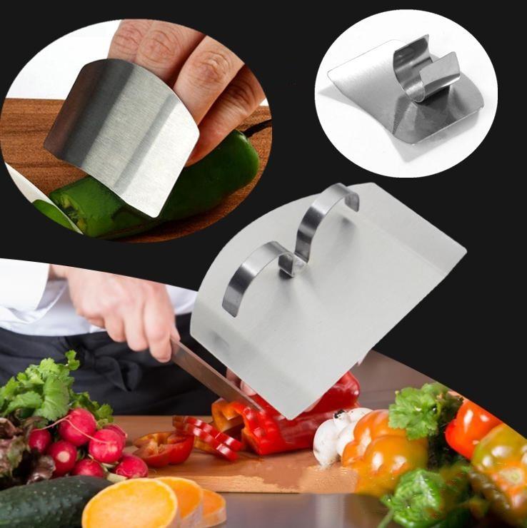 Neue Finger Schilde, multifunktionale Edelstahl Anti Schneidfingerschutz, Kochen Gadgets Handschutz Sicher SliceT5I004