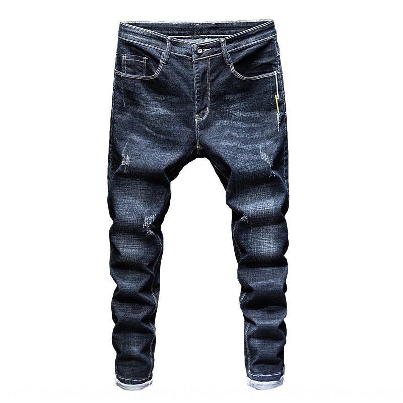 Rm6UQ de haute qualité jean style coréen hommes leggings élastiques slim jeans serrés pantalon serré adolescent pantalon hommes à la mode