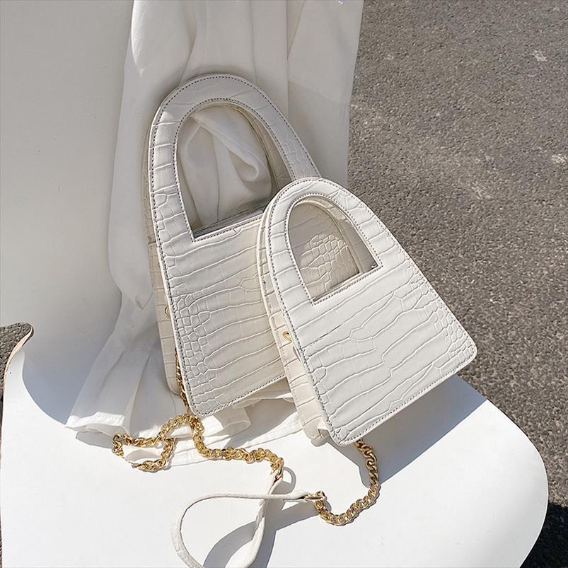 Padrão de pedra pequena PU bolsas de couro Bandoleira For Women 2020 Bolsas Lady Bolsa de Ombro simples Totes Saco de mão