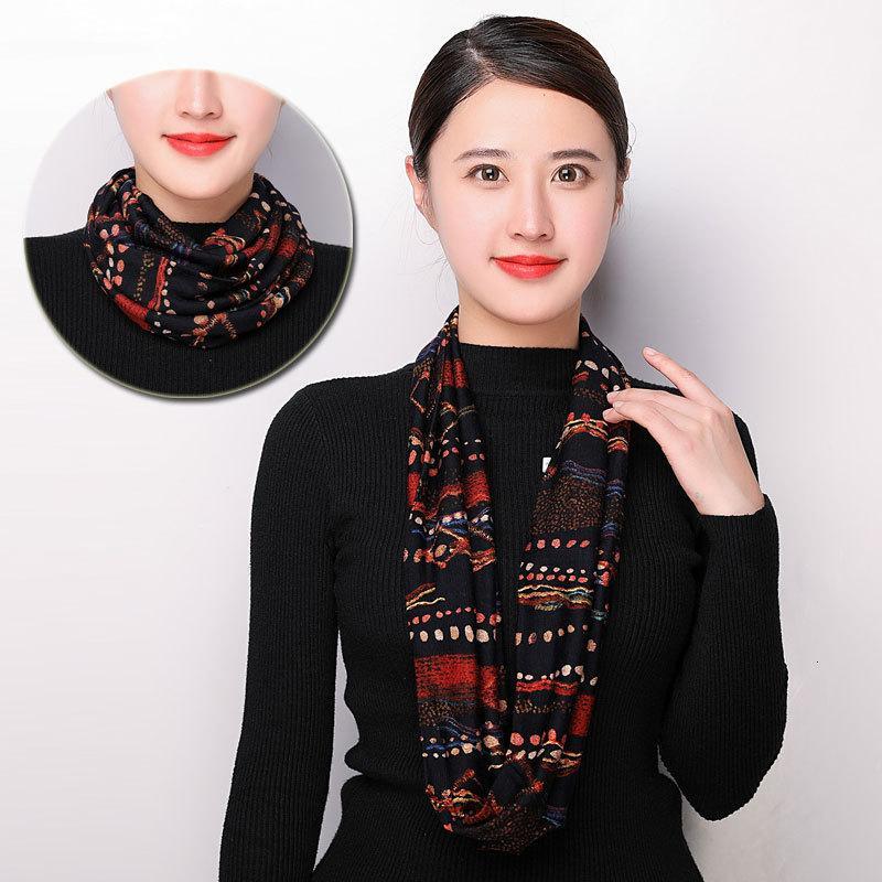 Protección de la bufanda elasticidad para no pincharse cuello de la cubierta 2019 nueva lana de doble capa espesada otoño y el invierno caliente de alta Impreso