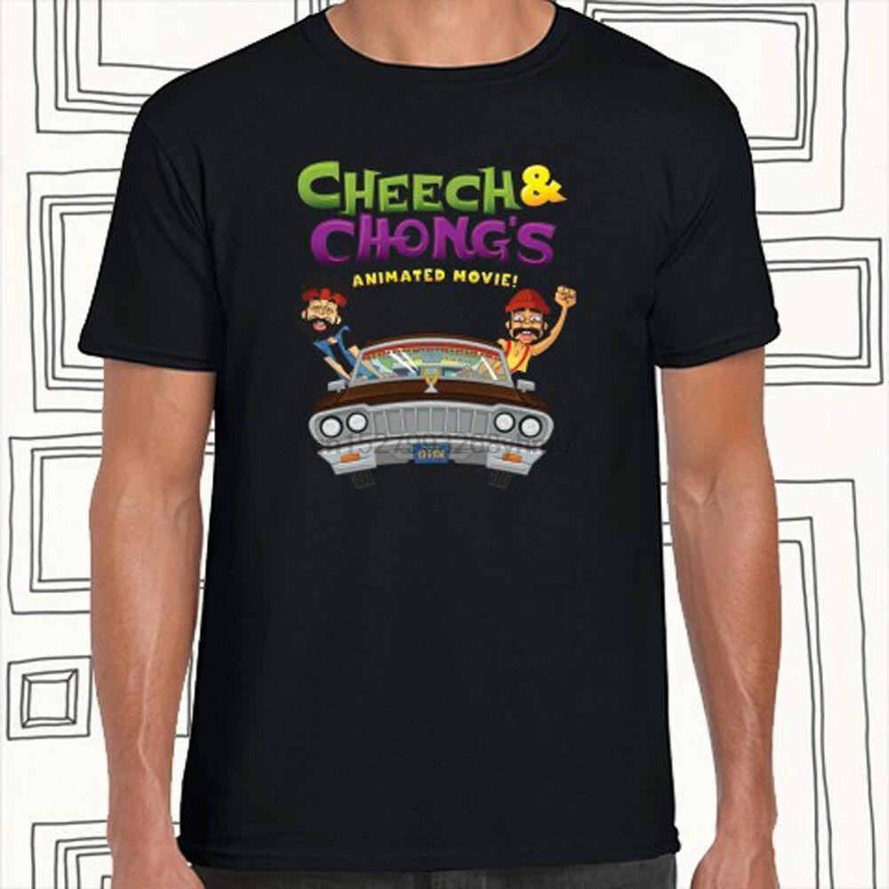Cheech Chong Film d'animation hommes de logo T-shirt noir Taille S M L XL XXL XXXL