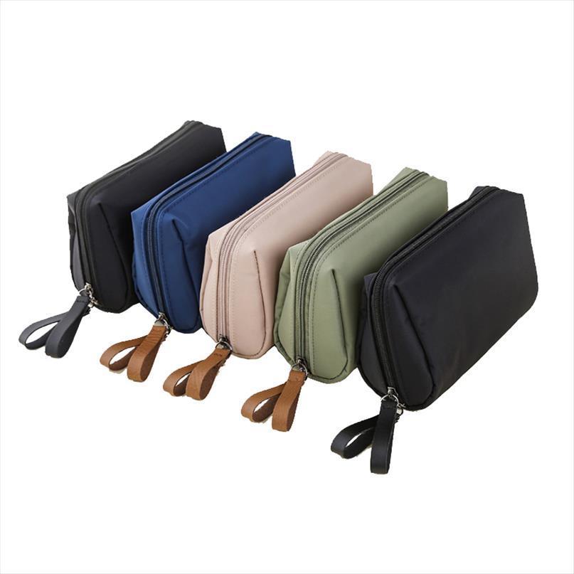 1 PC Solid Cosmetic Bag корейских женщины макияж сумка туалетной сумка водонепроницаемого макияж Организатор Case Dropshipping