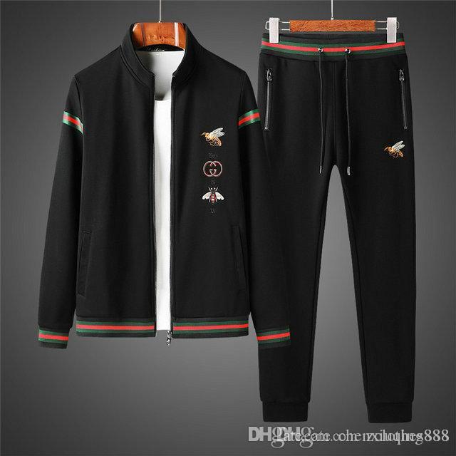 까마귀 남성 캐주얼 활성 정장 지퍼 땀 정장 트랙 정장없는 남성의 인쇄 필립 일반 스포츠웨어 정장 운동복 운동복