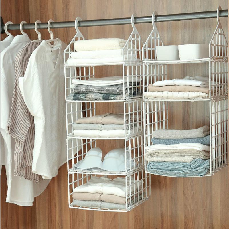 Foldable Closet Wardrobe Cabinet Organizer Hanging Pocket Drawer Clothes Storage Clothing Home Organization Accessories Supplies T200818