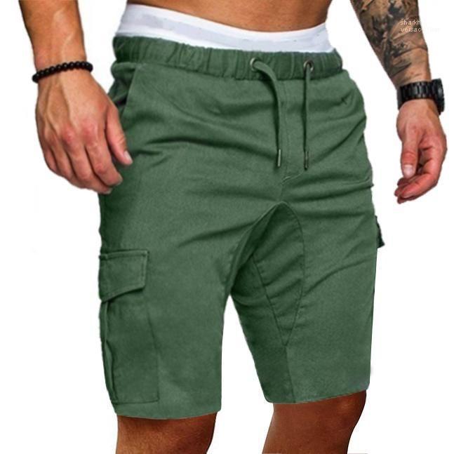 Joggeurs Pantalons courts Vêtements pour hommes Pantalones taille élastique hommes d'été Shorts Shorts Casual